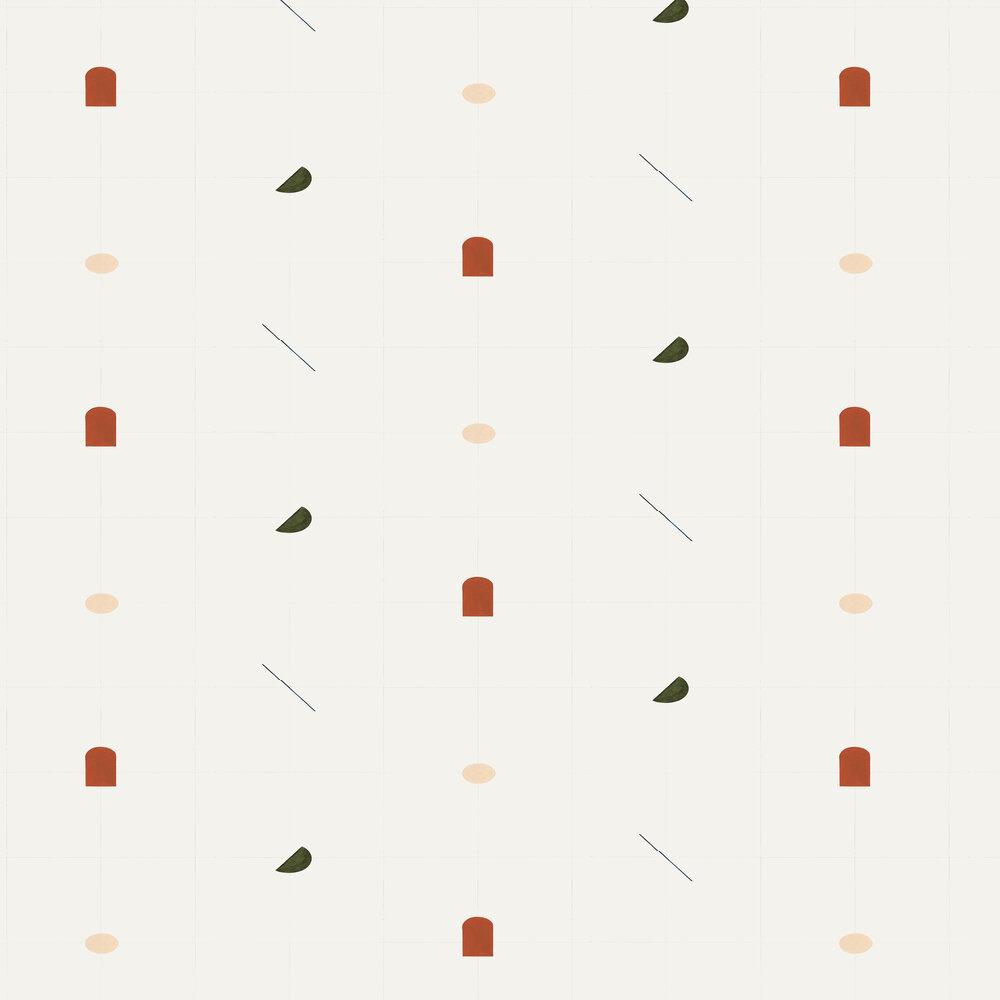 Coordonne Shape Study Terracotta Wallpaper - Product code: 8000010