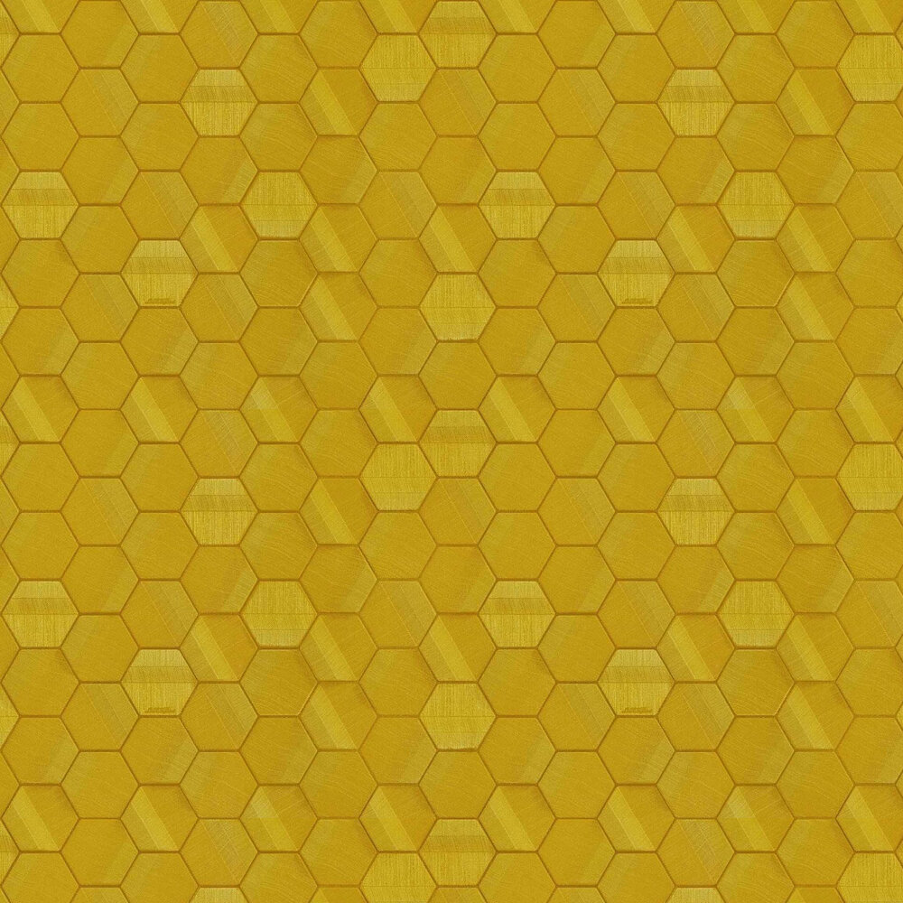 Murcielago Hexagon Feature Wallpaper - Gold - by Lamborghini