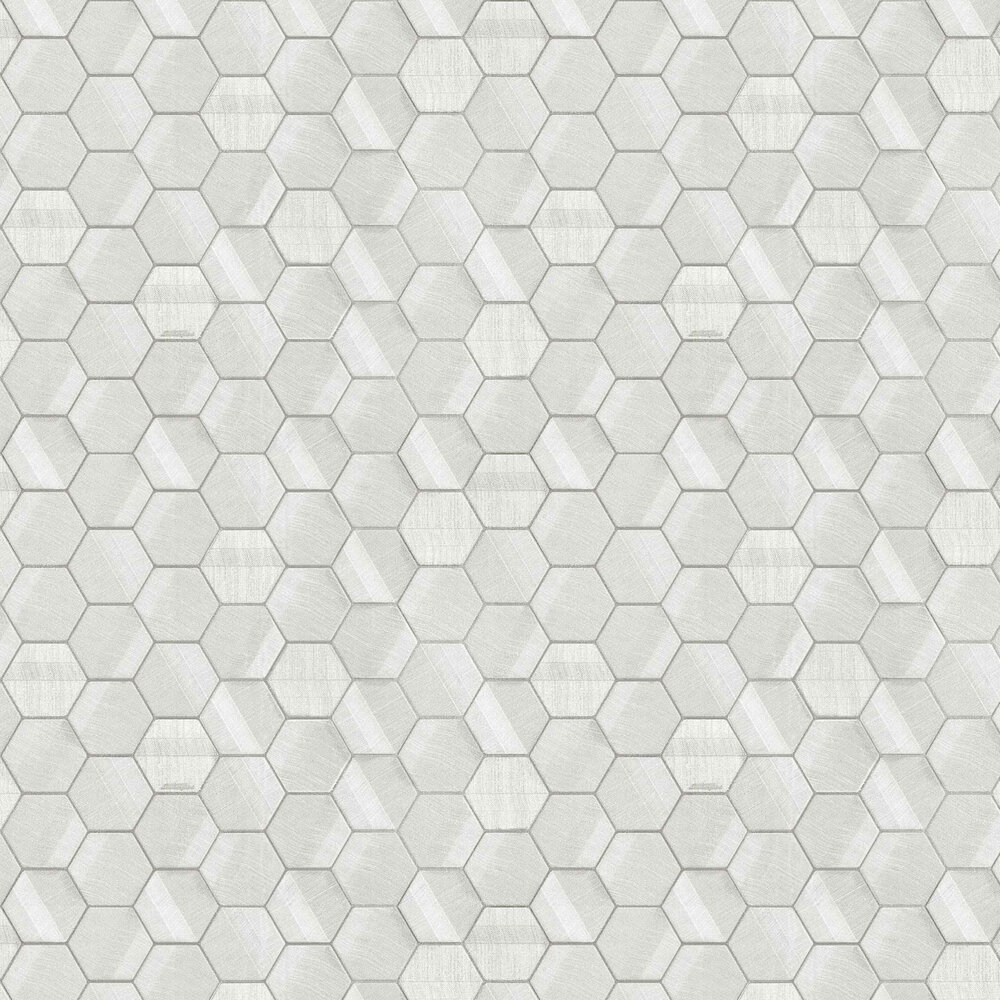 Murcielago Hexagon Feature Wallpaper - Ivory - by Lamborghini
