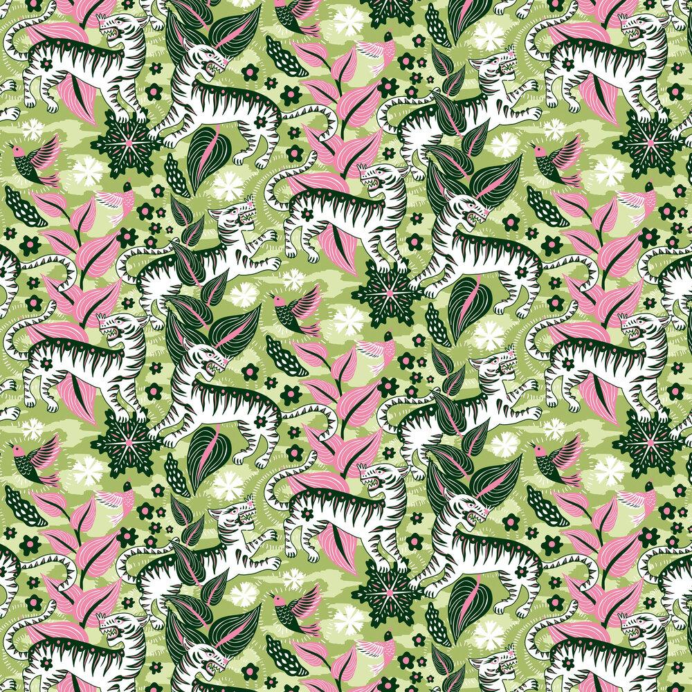 Selva de Tigres Wallpaper - Morning - by Coordonne
