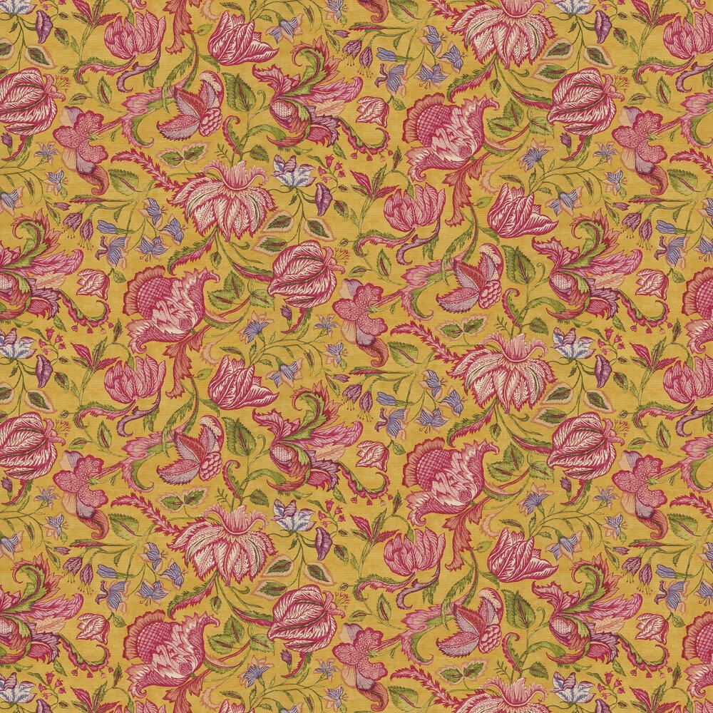 Sundari Trail Wallpaper - Yellow - by Eijffinger