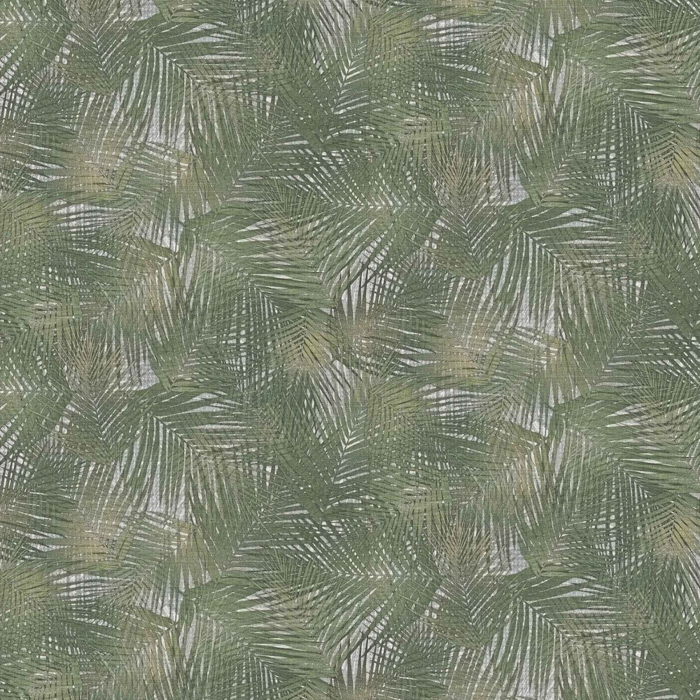 Miura Palm Feature Wallpaper - Green - by Lamborghini