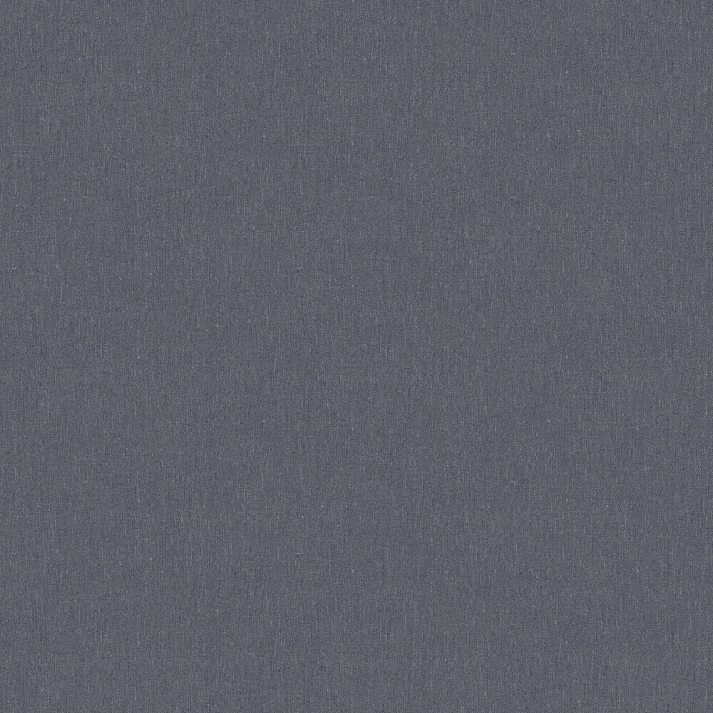 Linen Plain Wallpaper - Night Blue - by Boråstapeter