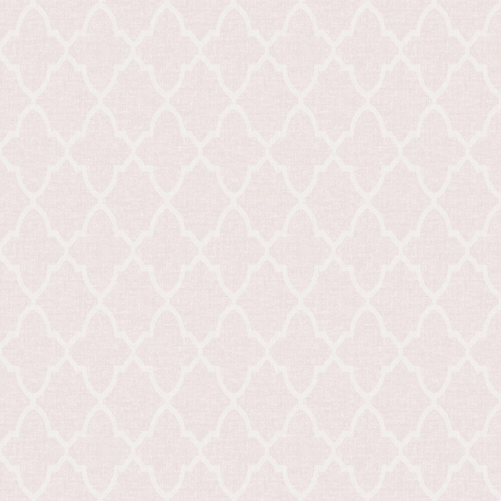 Geometric Diamond Wallpaper - Pink - by SK Filson