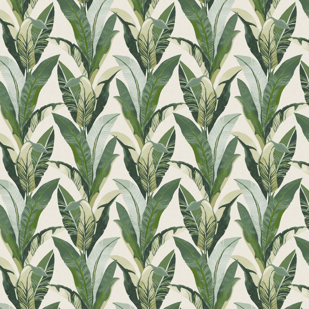 Jungle Palm Wallpaper - Green - by Eijffinger