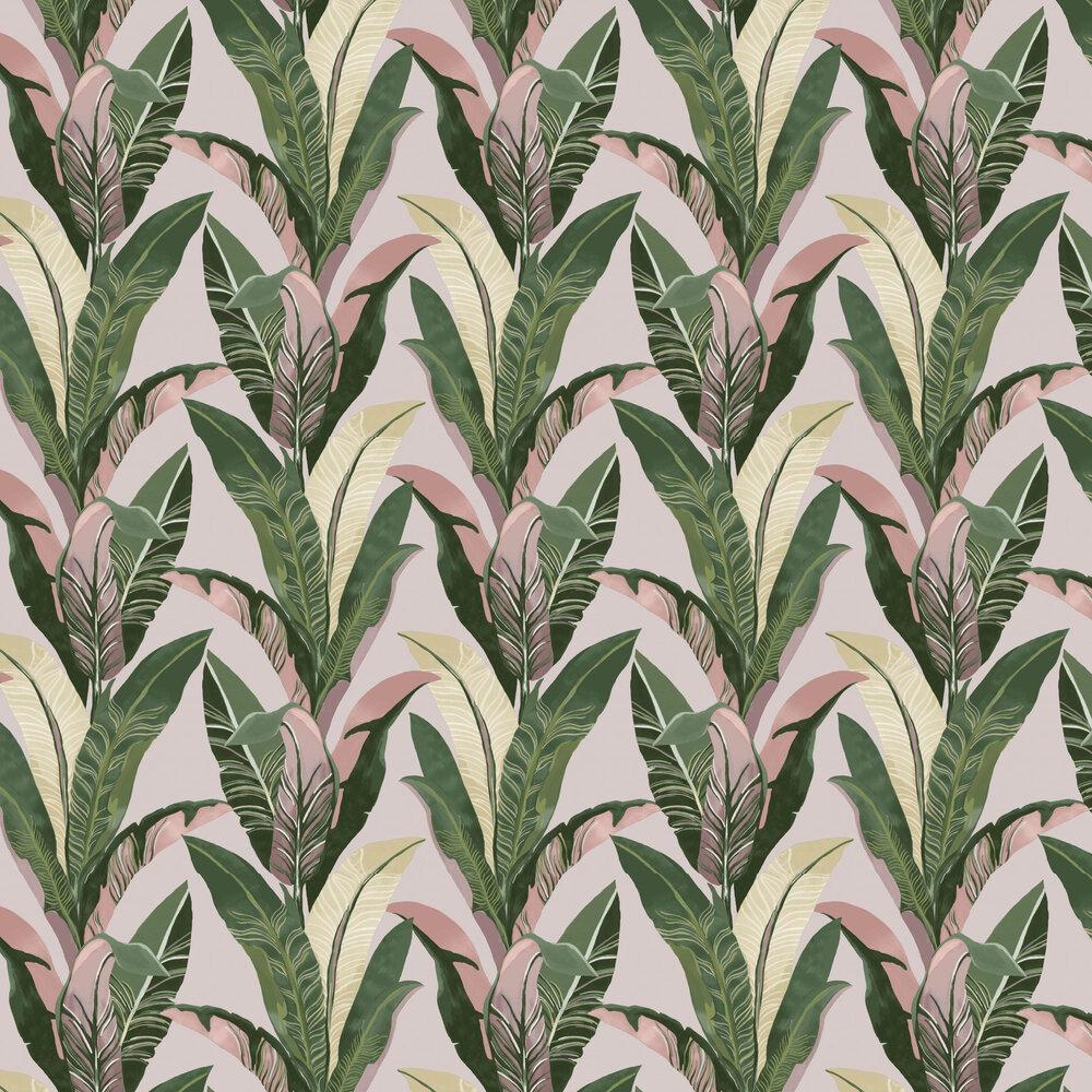 Jungle Palm Wallpaper - Pale Pink - by Eijffinger