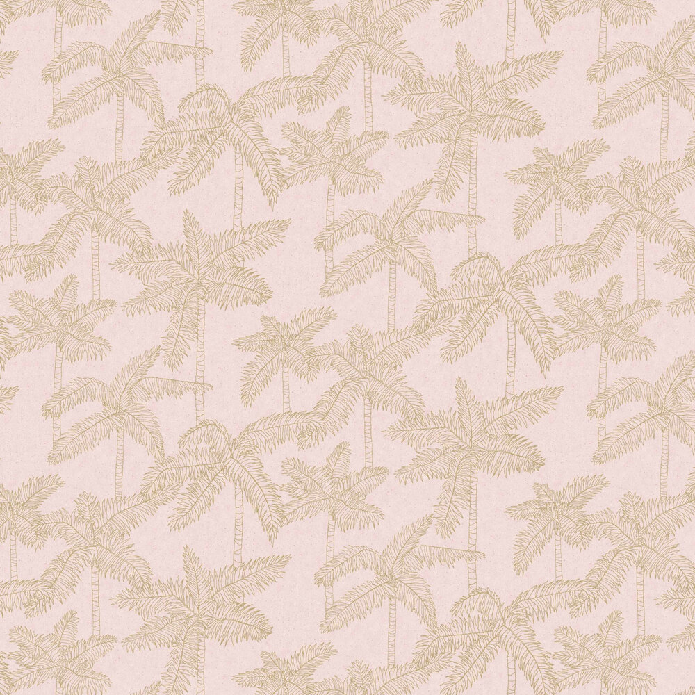 Eijffinger Palm Tree Pale Pink Wallpaper - Product code: 384512