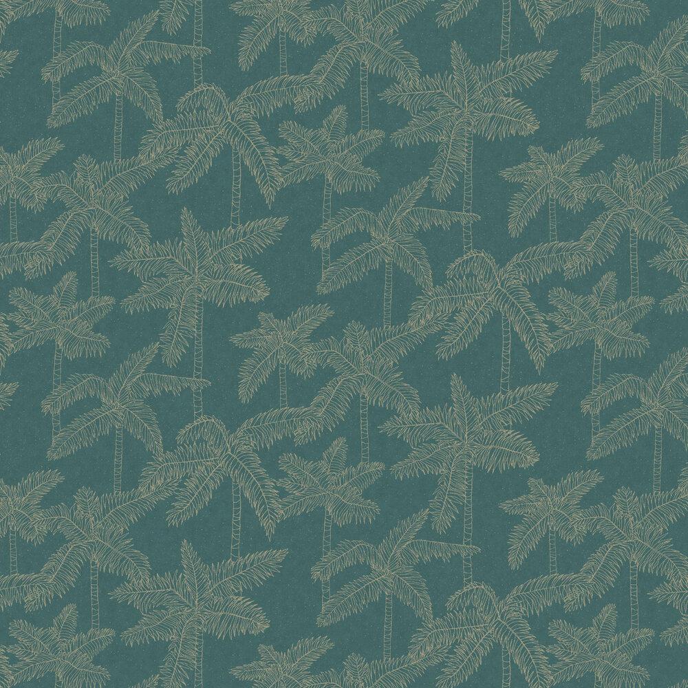 Palm Tree Wallpaper - Green - by Eijffinger