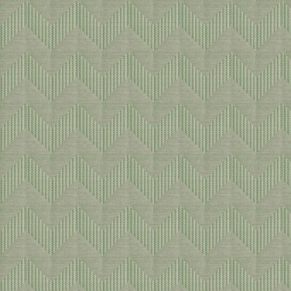 Miura Chevron Wallpaper - Light Green - by Lamborghini