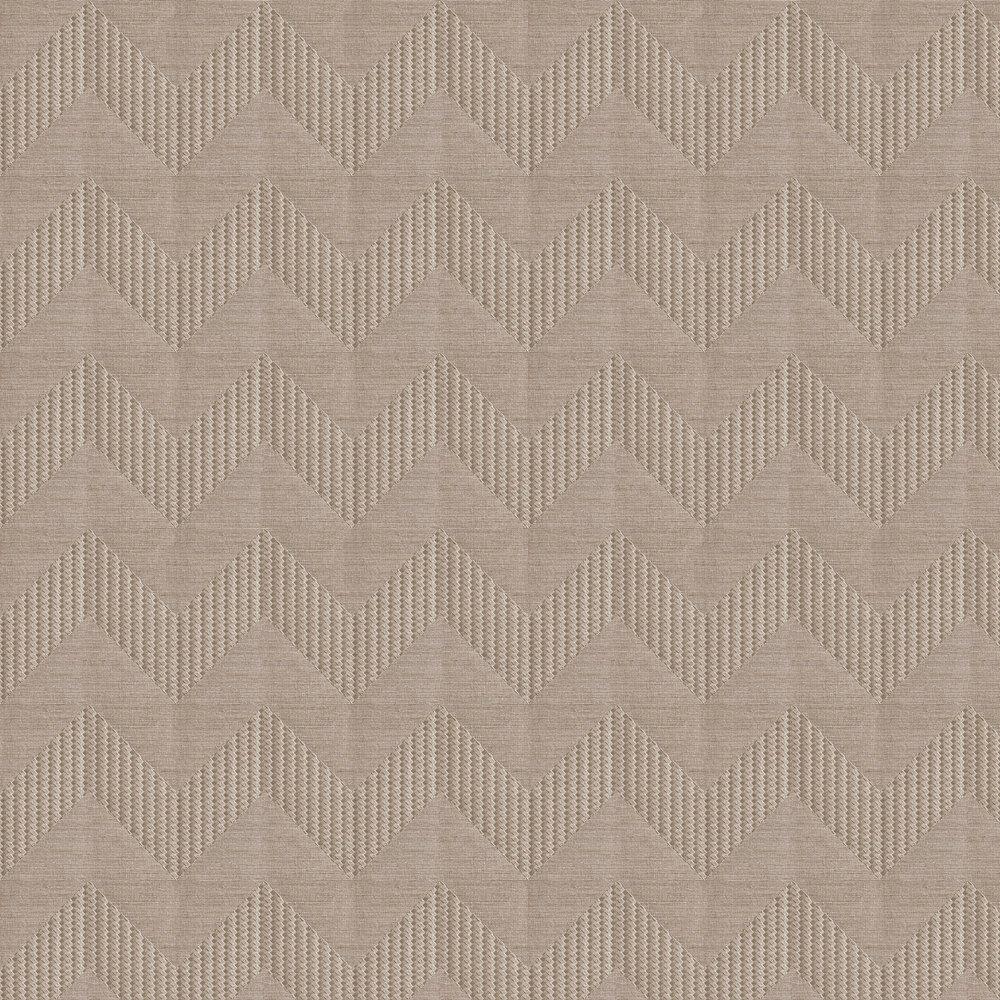 Miura Chevron Wallpaper - Taupe - by Lamborghini
