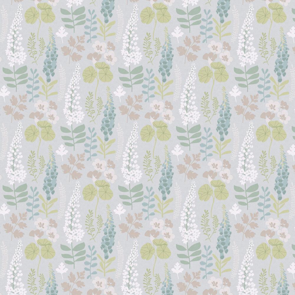 Foxglove Trail Wallpaper - Grey - by Eijffinger