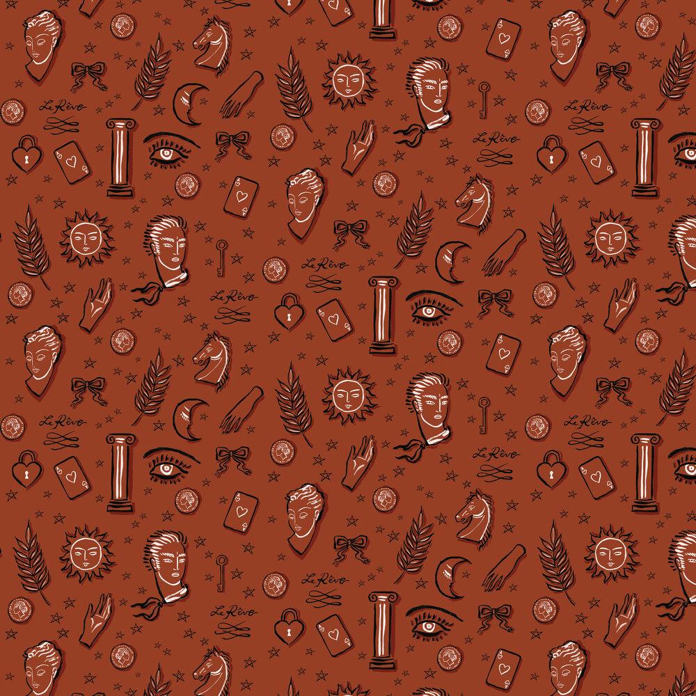 Coordonne La Reve Terracotta Wallpaper - Product code: 8000046