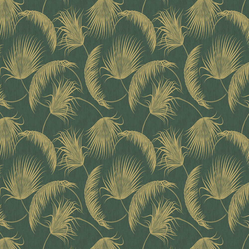 Oasis Leaves Wallpaper - Green - by SK Filson