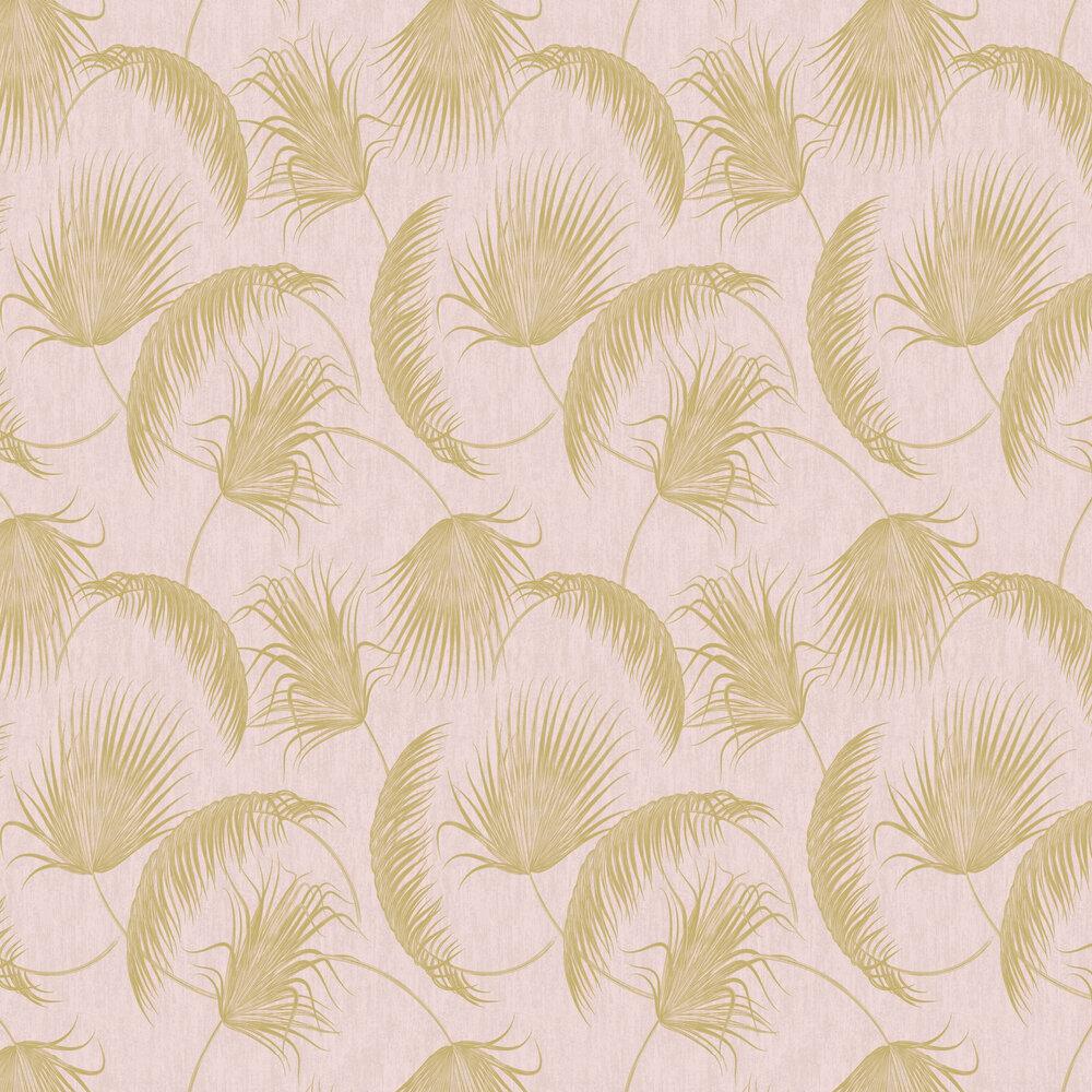 Oasis Leaves Wallpaper - Pink - by SK Filson