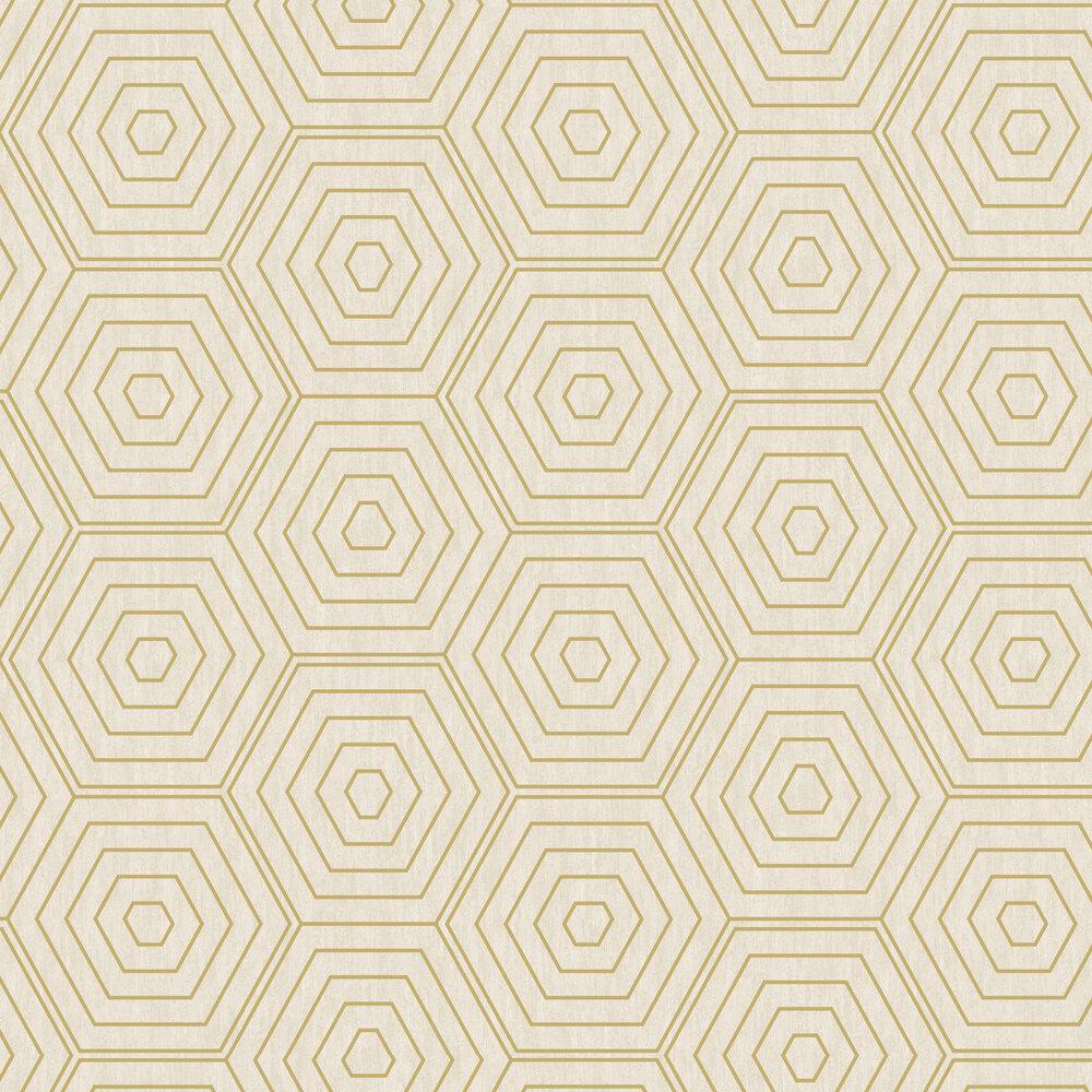 Aztec Hexagons Wallpaper - Stone - by SK Filson