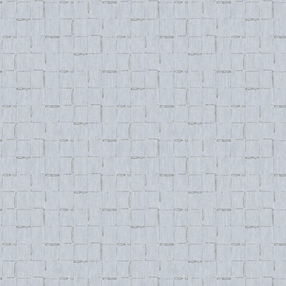 Geometric Lines Wallpaper - Duck Egg - by SK Filson