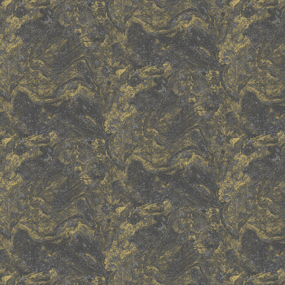 Infused Marble Wallpaper - Black / Gold - by SK Filson