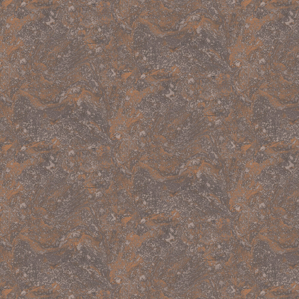Infused Marble Wallpaper - Black / Copper - by SK Filson