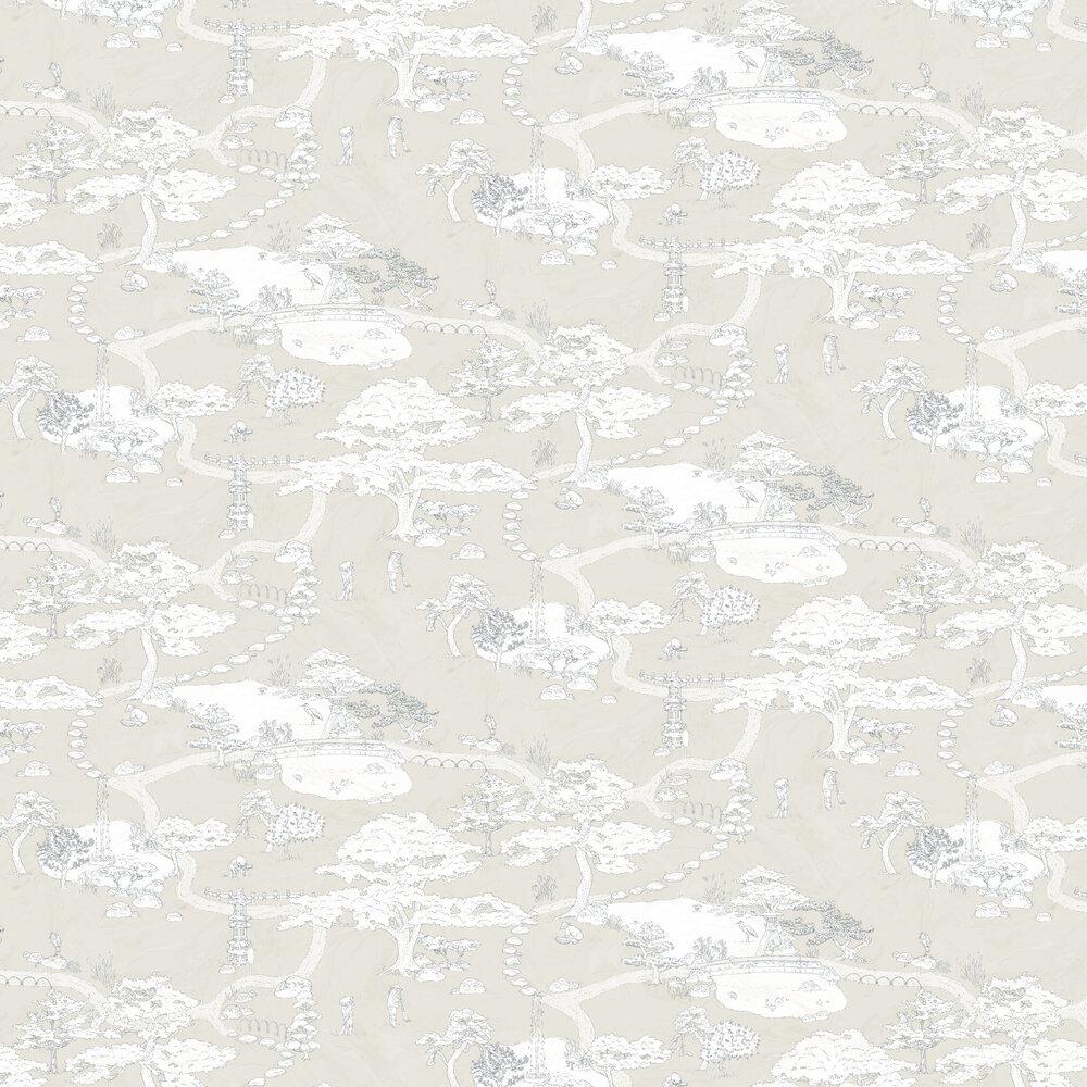 Kenrokuen Wallpaper - Beige - by Sandberg