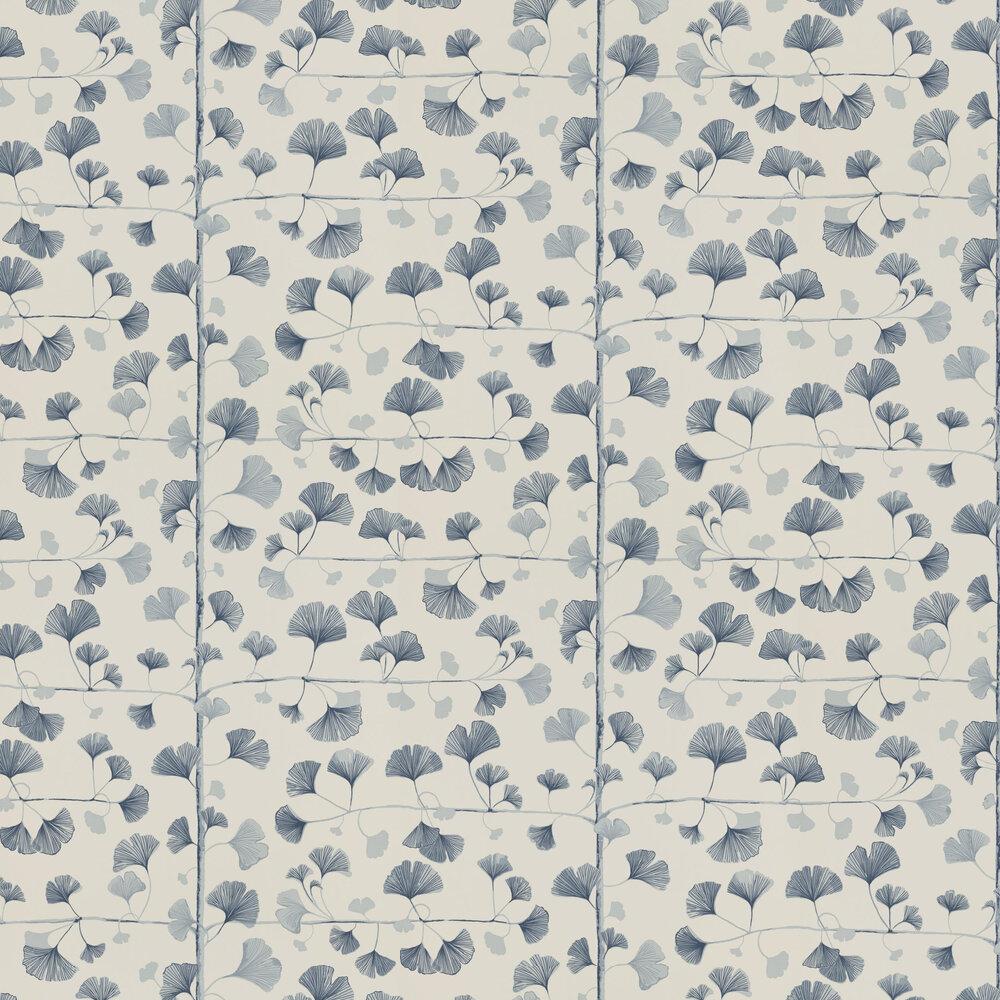 Sandberg Ginkgo Navy Wallpaper - Product code: 803-56