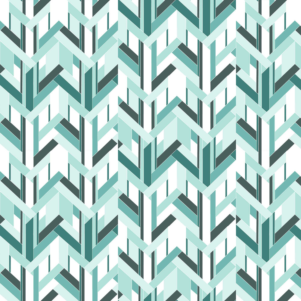 Fitz Wallpaper - Blue - by Petronella Hall