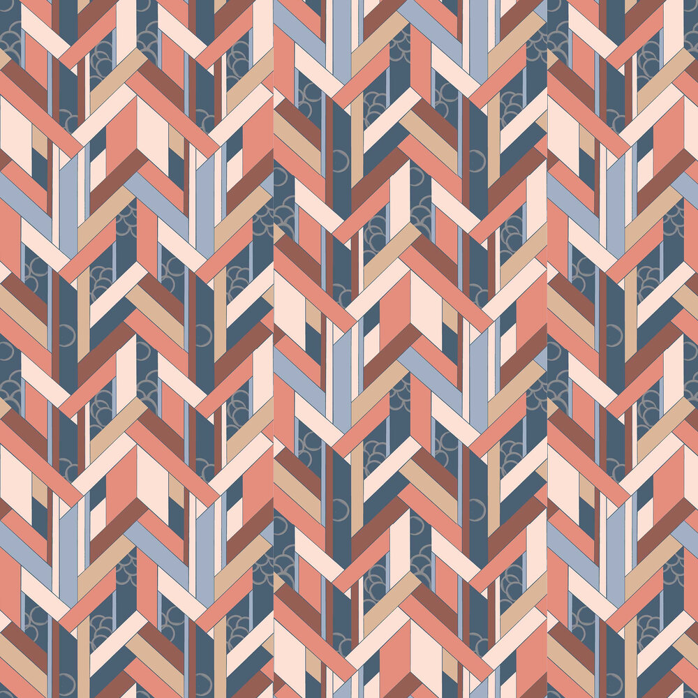 Fitz Wallpaper - Brick - by Petronella Hall