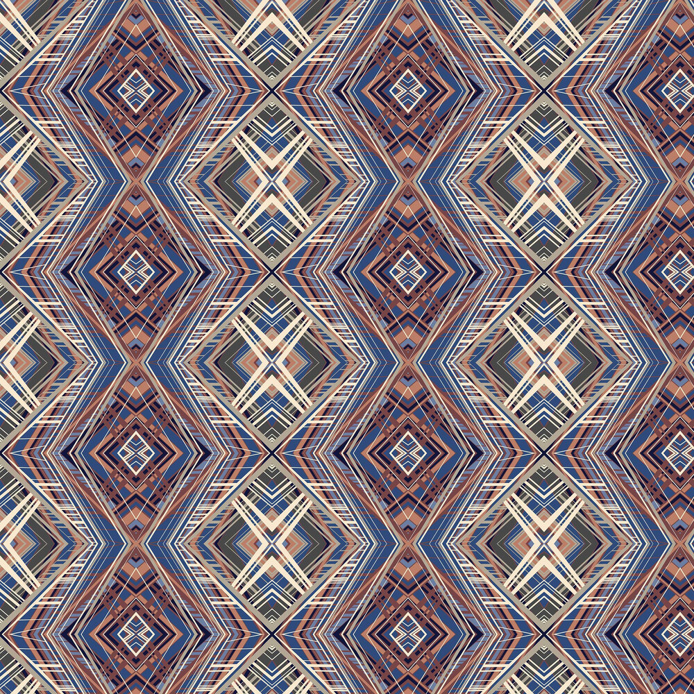 Petronella Hall Techno Blue Wallpaper - Product code: 11872