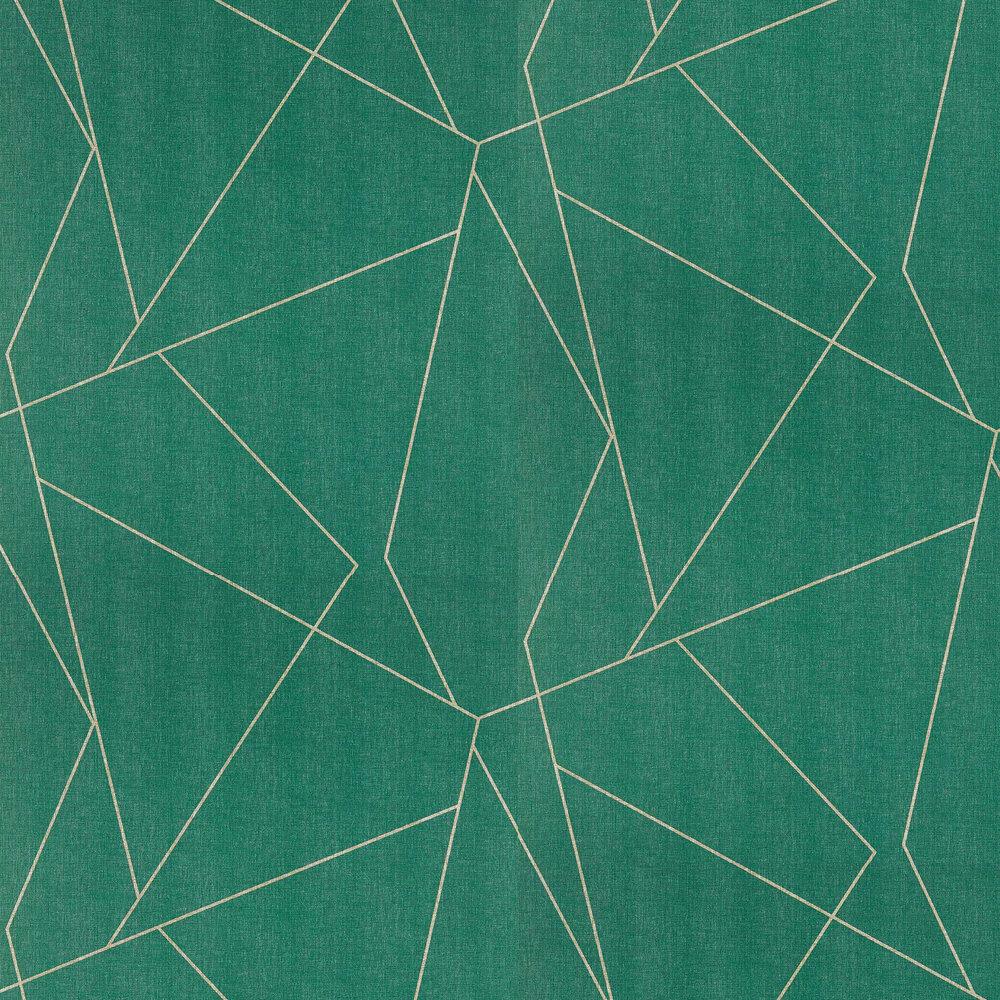 Parapet Wallpaper - Emerald - by Harlequin
