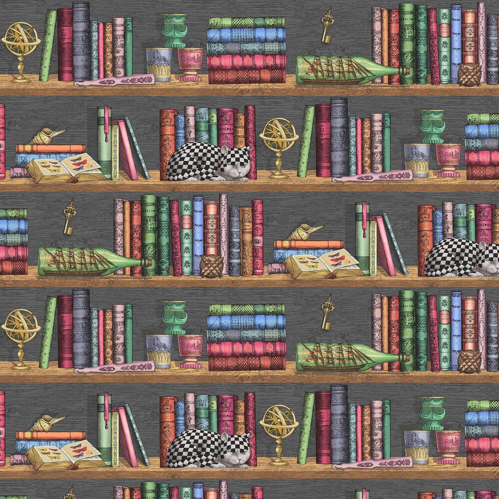 Libreria Wallpaper - Multi-coloured - by Cole & Son