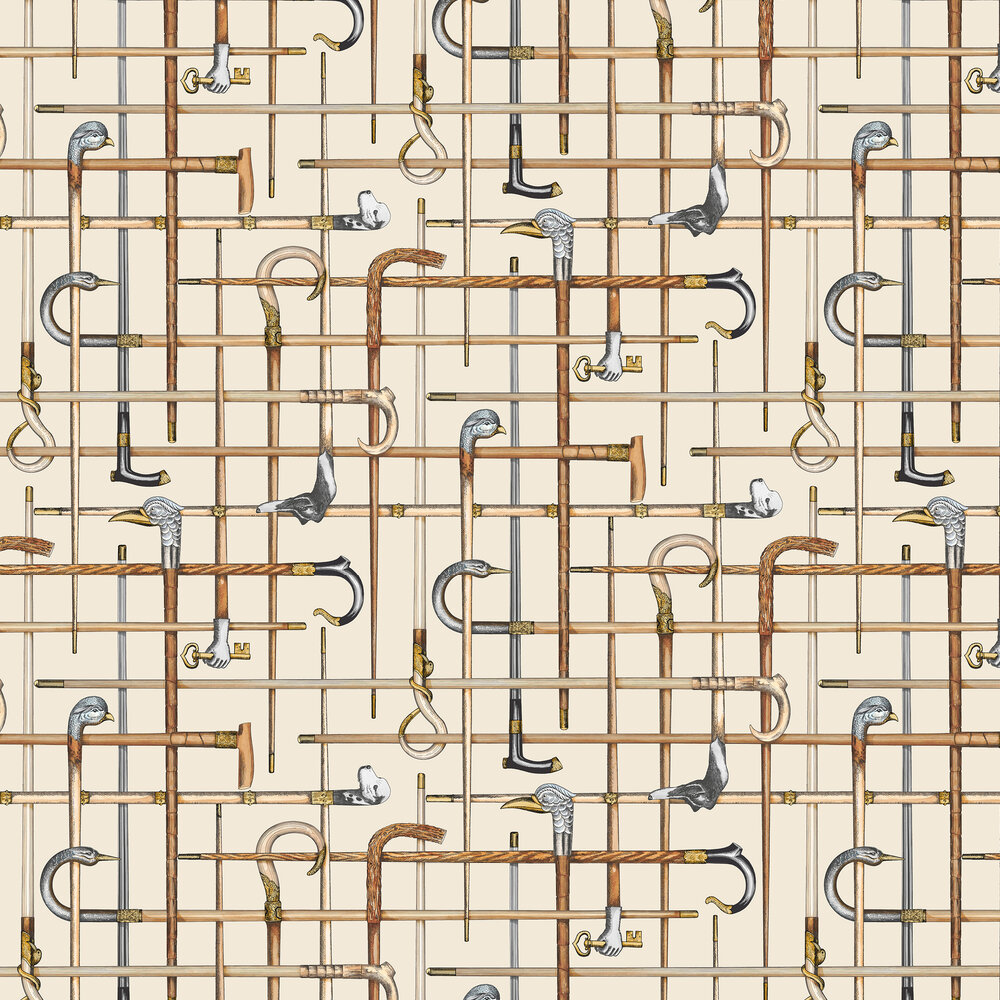 Cole & Son Bastoni Cream Wallpaper - Product code: 114/14026