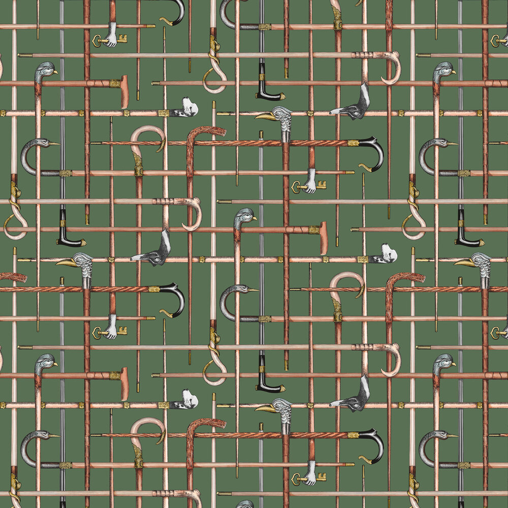 Cole & Son Bastoni Racing Car Green Wallpaper - Product code: 114/14027