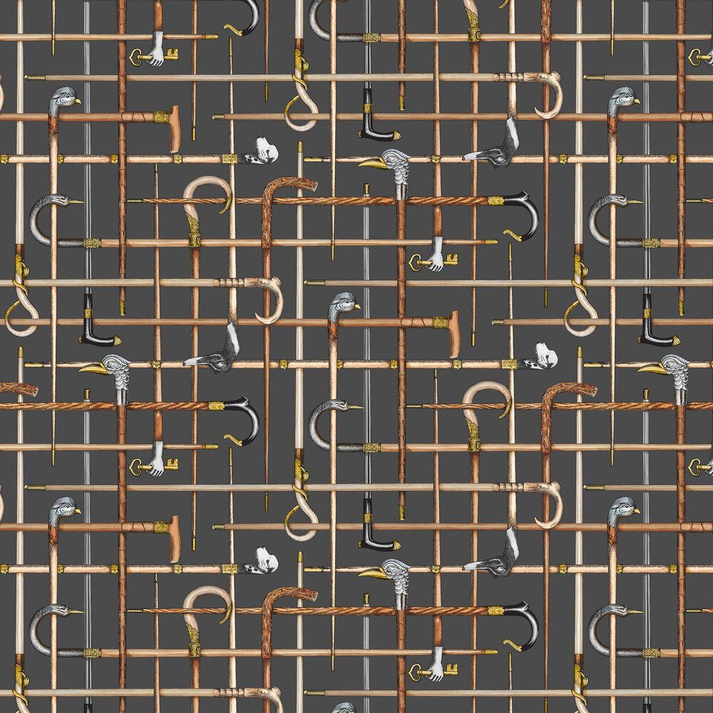Bastoni Wallpaper - Charcoal - by Cole & Son
