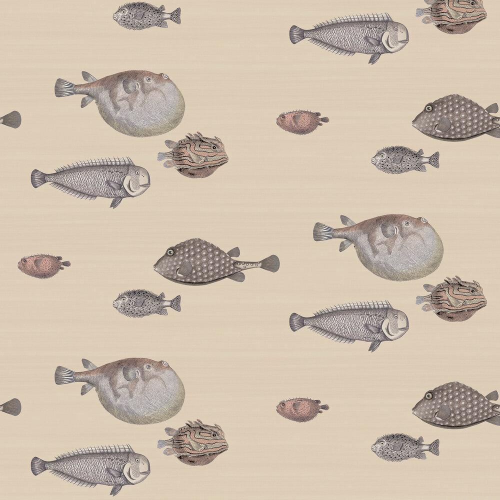 Acquario Wallpaper - Taupe - by Cole & Son