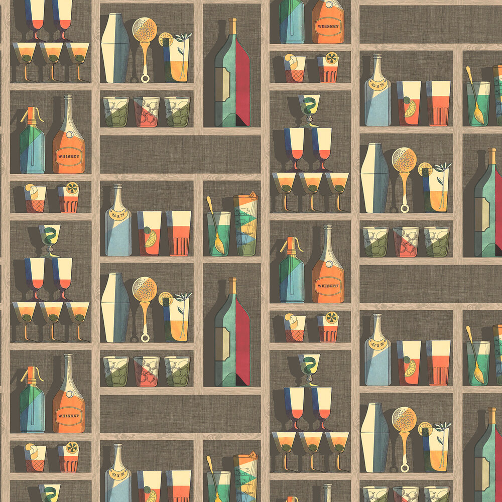 Cocktails Wallpaper - Multi-coloured - by Cole & Son