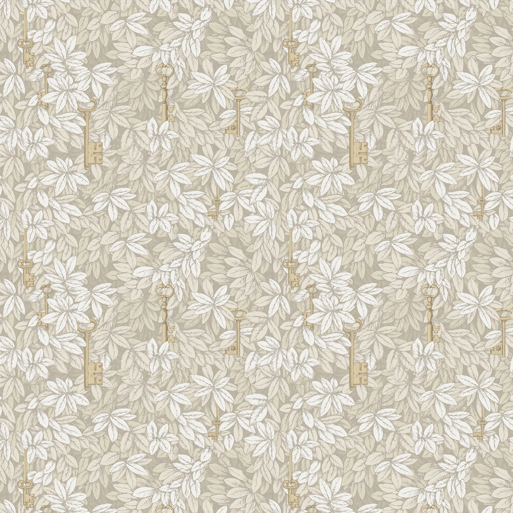 Cole & Son Chiavi Segrete Stone / Gold Wallpaper - Product code: 114/26052