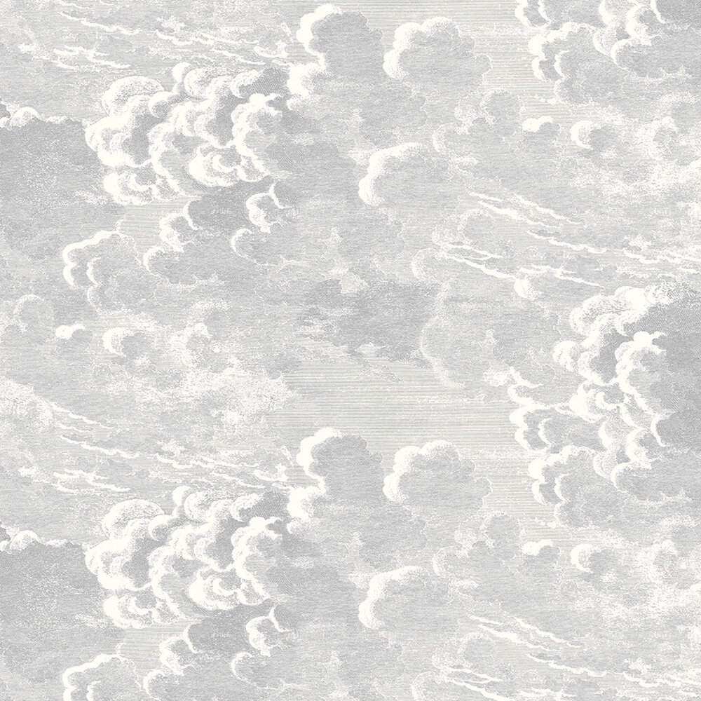 Nuvolette Wallpaper - Soot / Snow - by Cole & Son