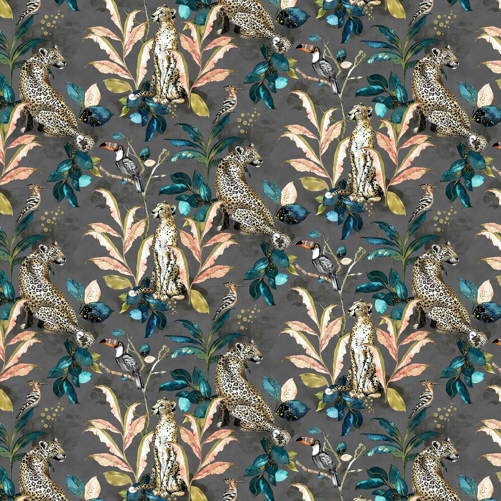 Graduate Collection Cheetah Grey Wallpaper - Product code: LH1CHEWALGREY