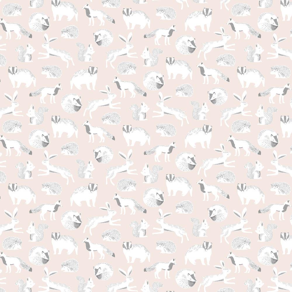 Forest Animals Wallpaper - Pink - by Eijffinger