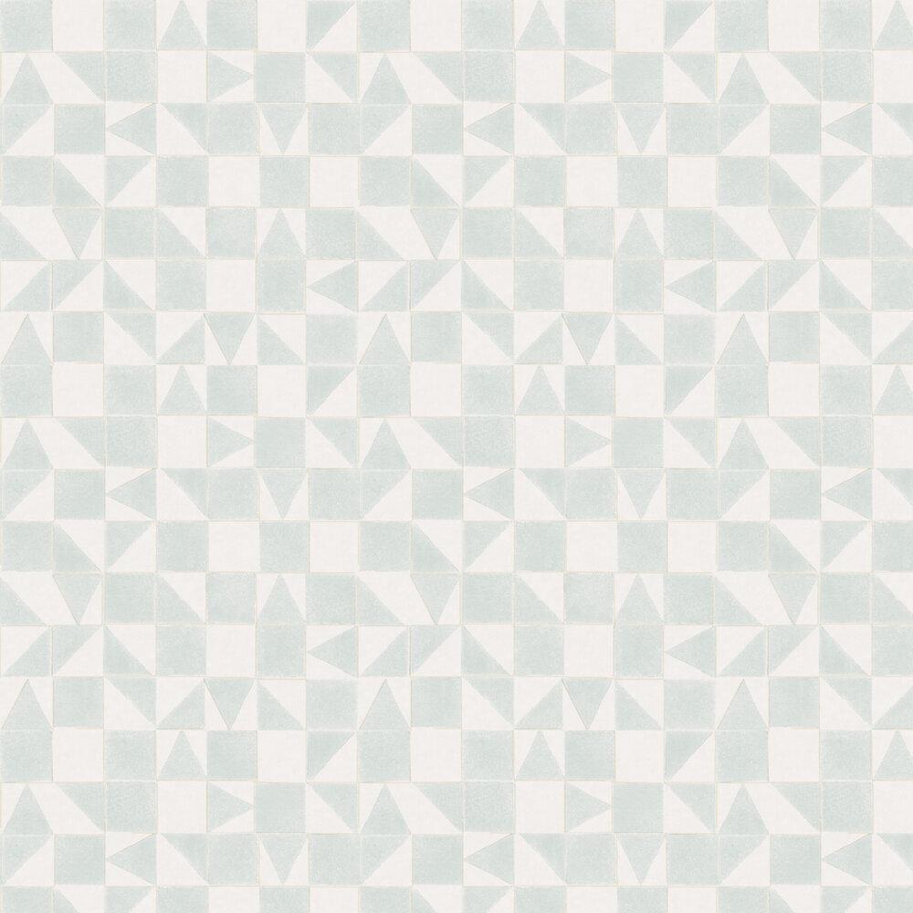 Geometric Wallpaper - Blue / Green - by Eijffinger