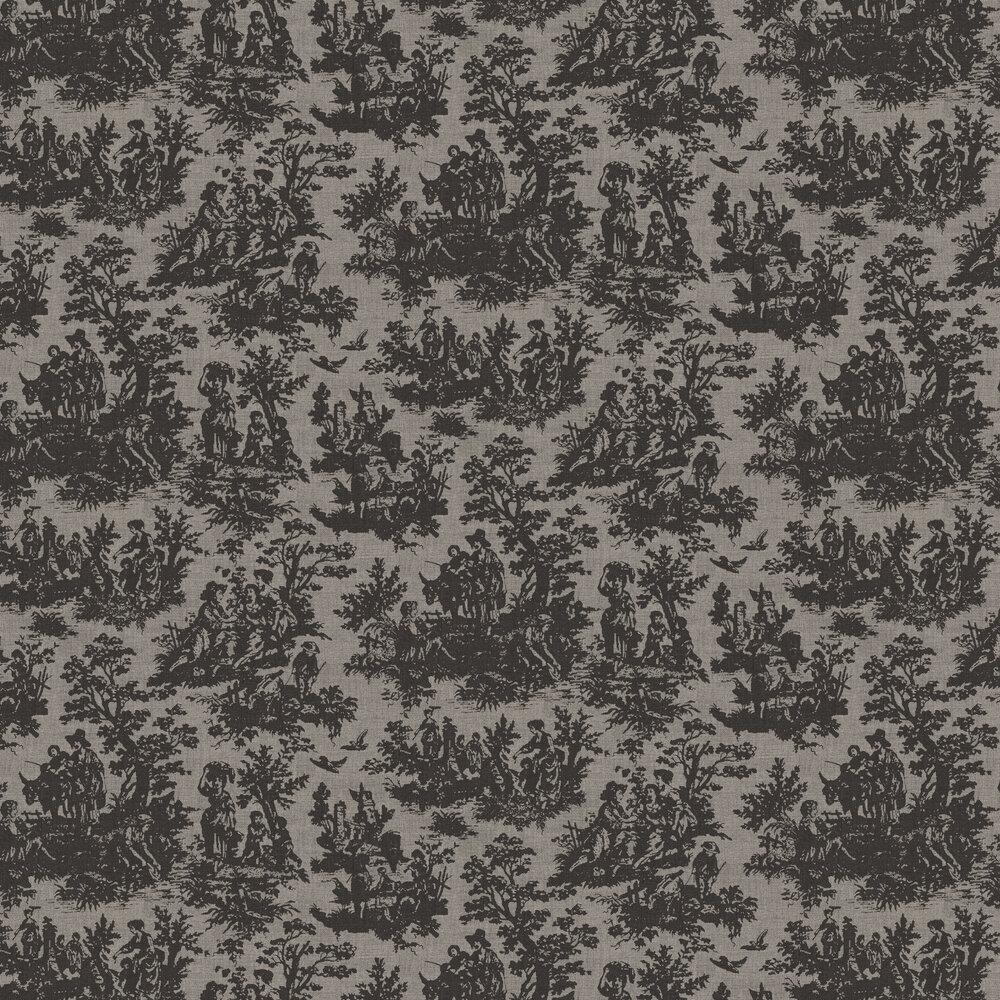 Laeken Wallpaper - Black and Grey - by Coordonne