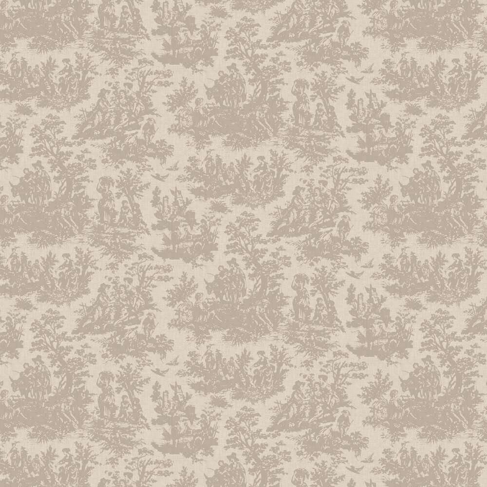 Laeken Wallpaper - Gold - by Coordonne