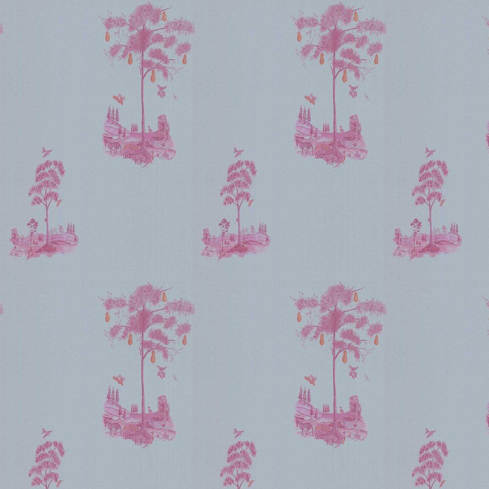 Andrew Martin Pear Tree Sunset Pink Wallpaper - Product code: PT03-SUNSETPINK