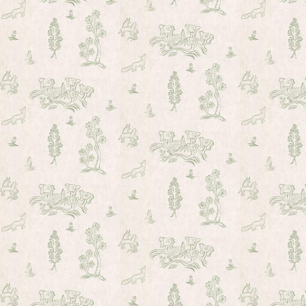 Andrew Martin Wychwood  Basil Green Wallpaper - Product code: WY04-BASILGREEN