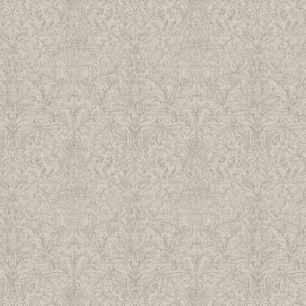 Damask Wallpaper - Brown / Putty - by SketchTwenty 3