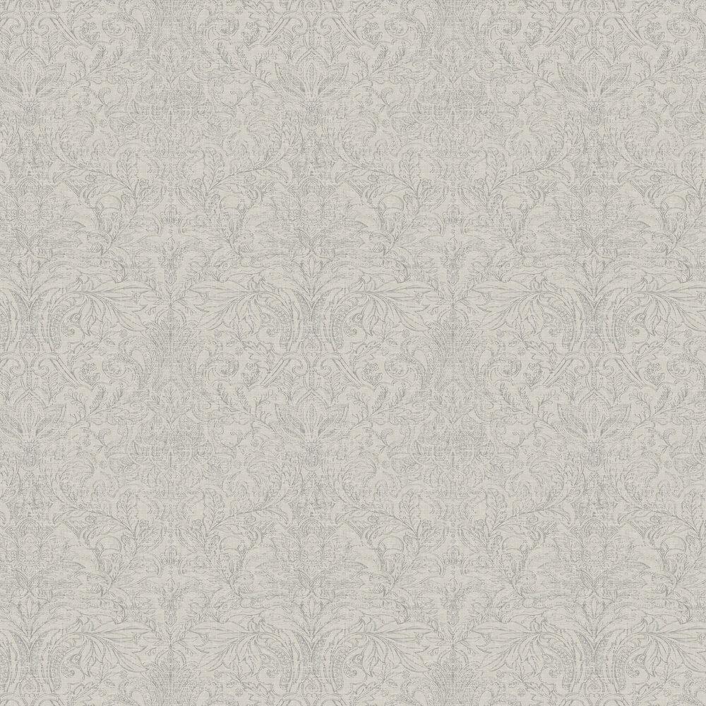 Damask Wallpaper - Slate / Grey - by SketchTwenty 3