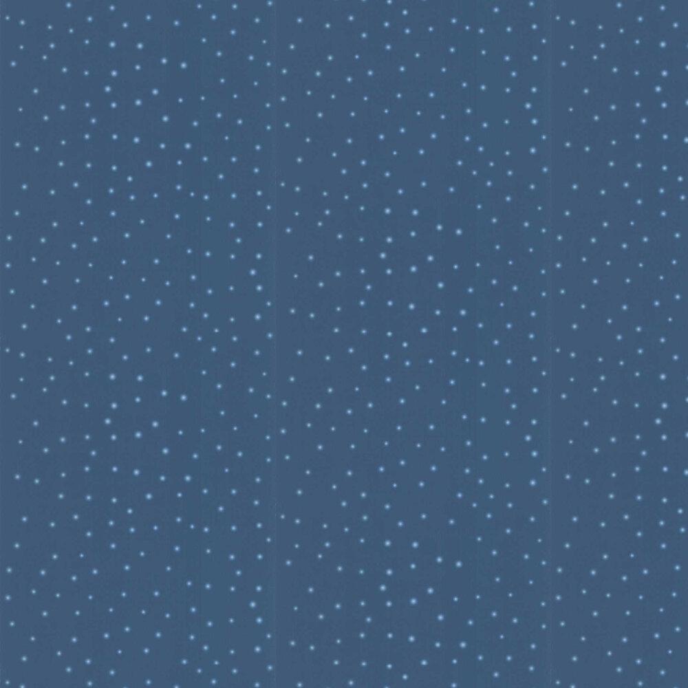 Twinkle Twinkle Stars Wallpaper - Blue - by SK Filson