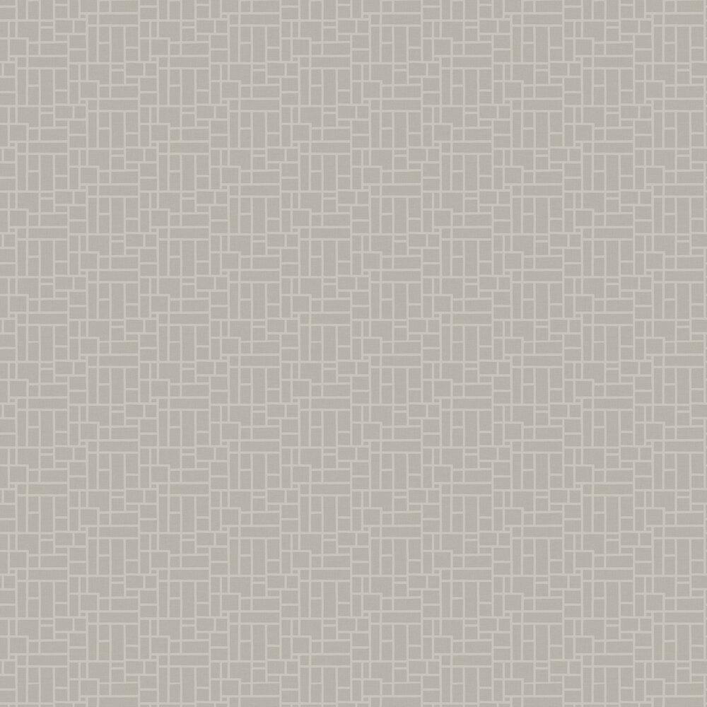 Small Trellis Wallpaper - Ivory / Putty - by SketchTwenty 3
