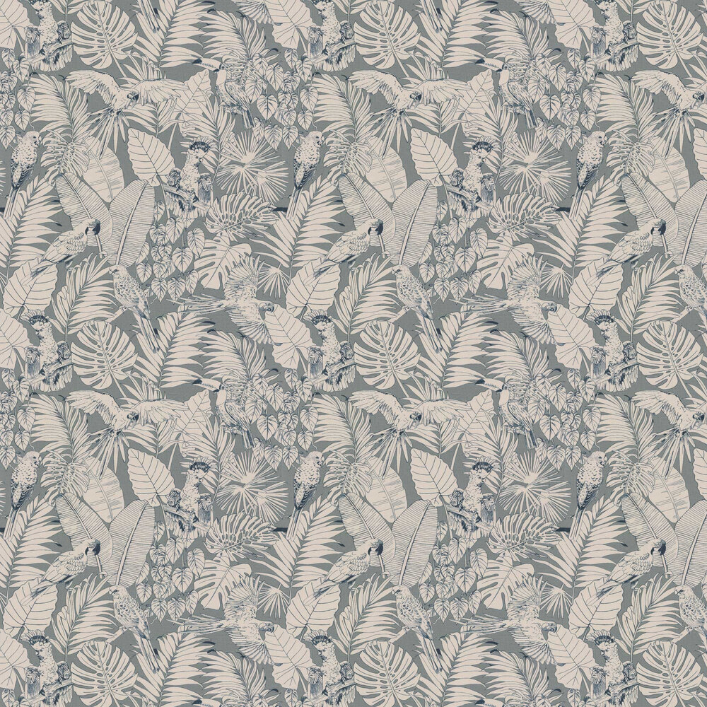 Parrot Jungle Wallpaper - Green - by Albany