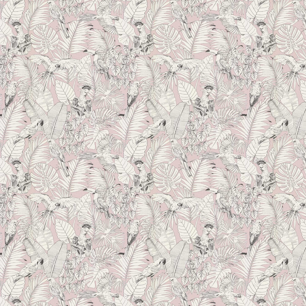 Parrot Jungle Wallpaper - Pink - by Albany