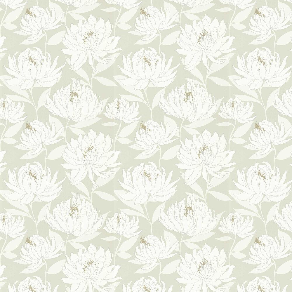 Sebal Wallpaper - Earth/ Silver - by Harlequin